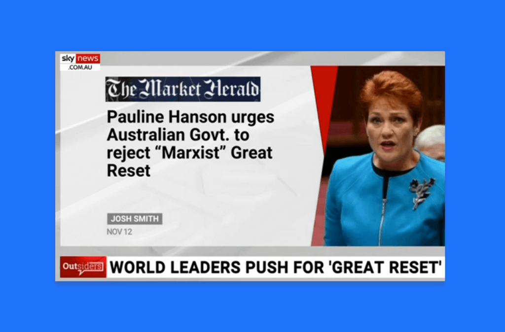 Pauline Hanson Marxist Reset